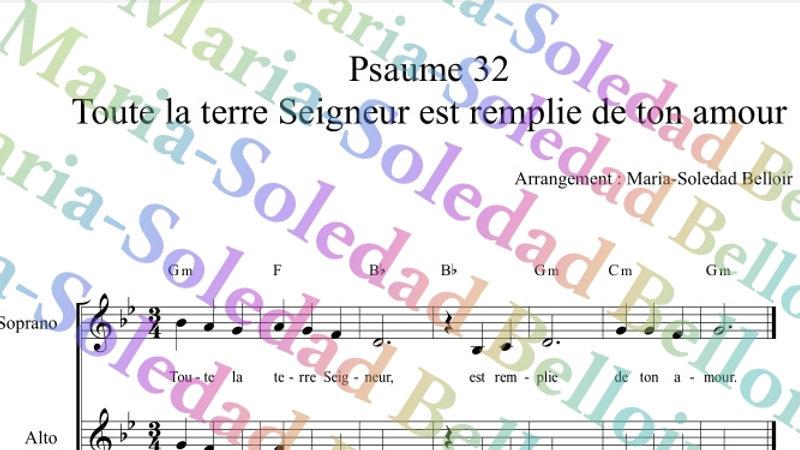 Psaume 32 Toute la terre Seigneur est remplie de ton amour