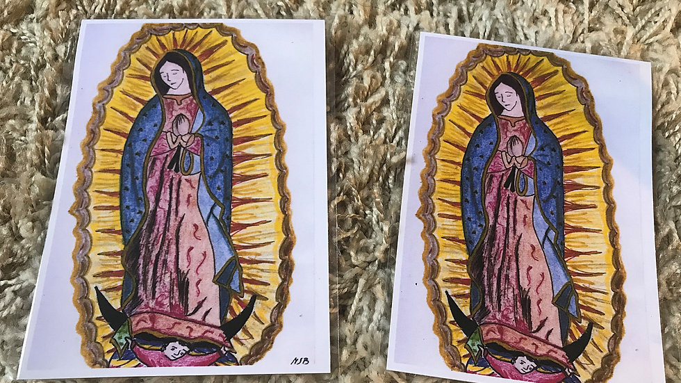 Notre Dame de Guadalupe plastifiée