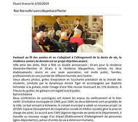 Anniversaire EHPAD Mauperthuis/A.Plancher