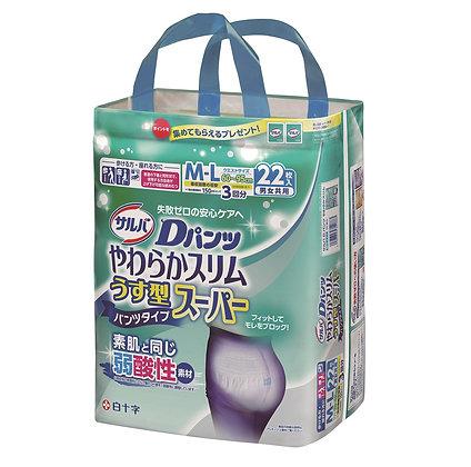 日本喜舒樂輕巧裝成人尿褲 M-L 22片包(3包箱)