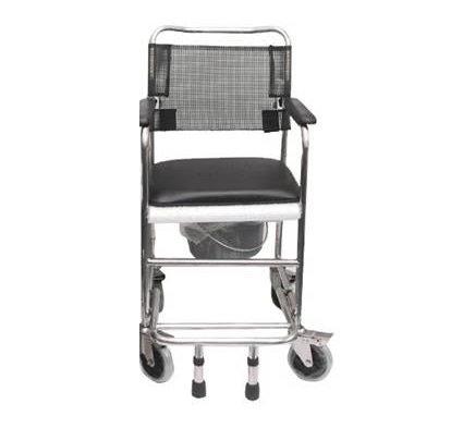 不鏽鋼四轆手推便椅 W-200