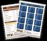 Calendar and menu