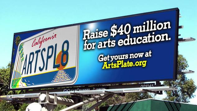 California Arts Plate campaign