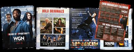 Brochure and broadcast calendar