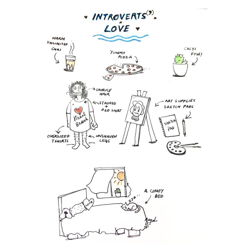 Introvert's favourite things!