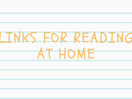 Links for Reading at Home