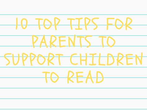 10 top tips for parents to support children to read