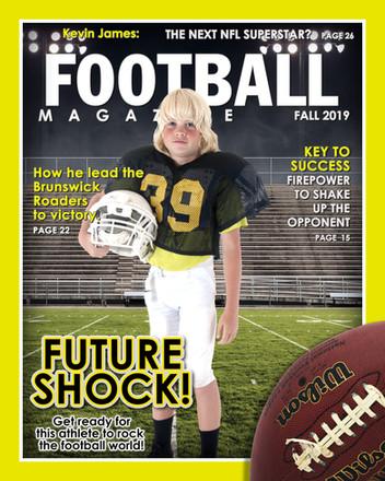 Magazine Cover -Football