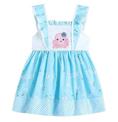 Baby Octopus A-Line Ruffle Dress