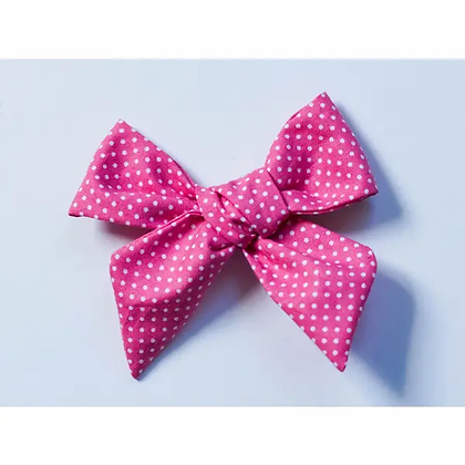 Pink Dot Hand Tied Bow