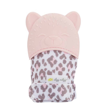 Leopard Teething Mitt