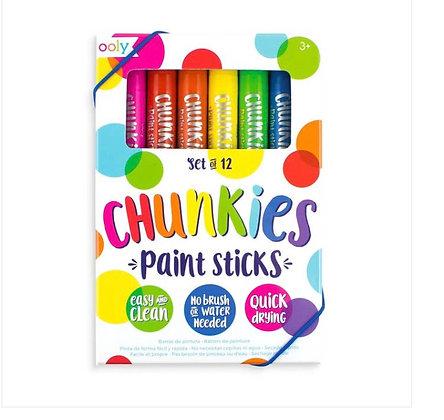 Ooly Chunkies Paint Sticks Original Pack - Set of 12