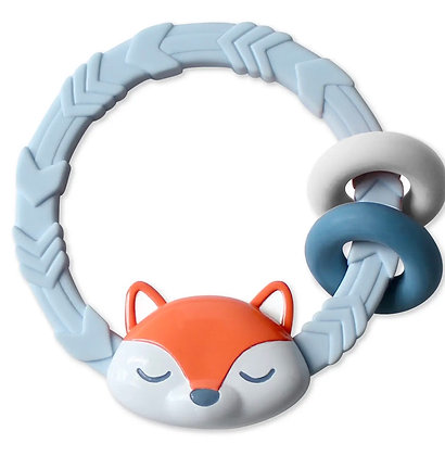 Fox Ritzy Rattle™ with Teething Rings
