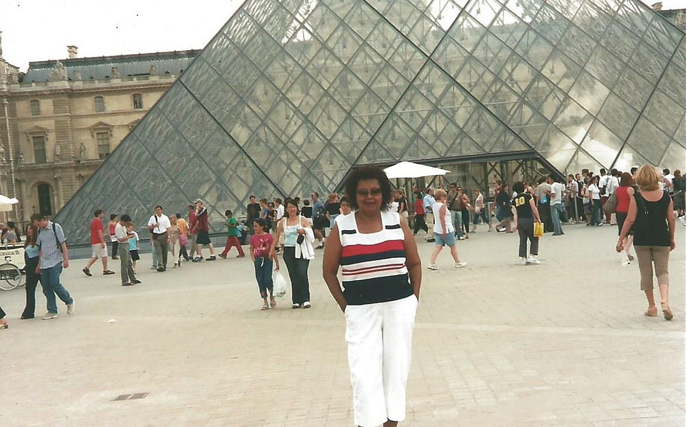 My Mom, Toni on our first trip to Paris, 2003