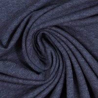 French Terry | jeans meliert | 0.5m