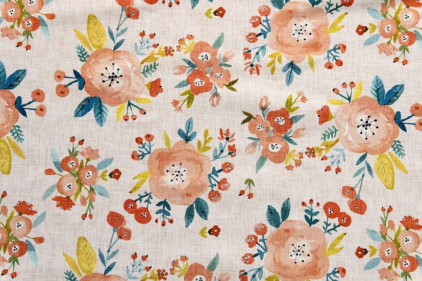 Linen Flowers | Biojersey | 0,5m
