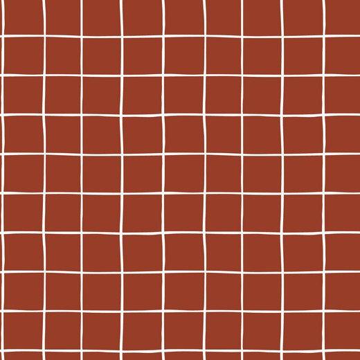 Grid ziegel / Kuschelsweat / 0.5m