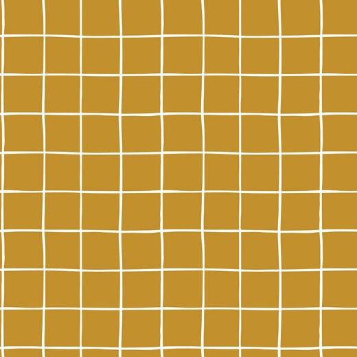 Grid ocher / cozy sweat / 0.5m