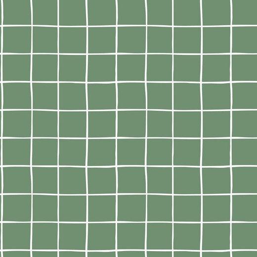 Grid old green / cozy sweat / 0.5m