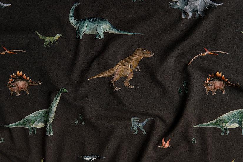 Dinos dunkelgrau | Biojersey | 0,5m