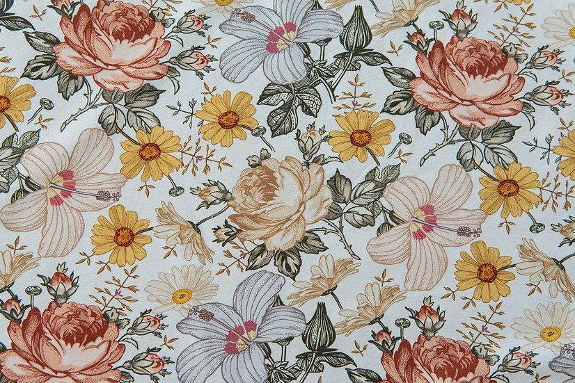 Vintage Flowers | French Terry | 0.5m