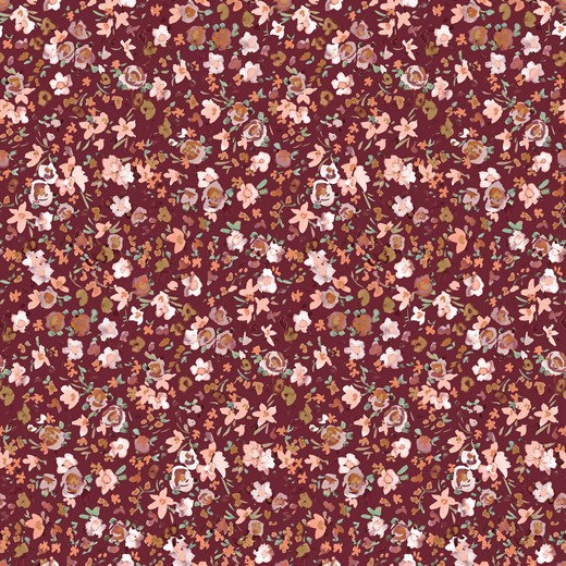 Just Flowers dunkle beere   Biojersey   0.5m
