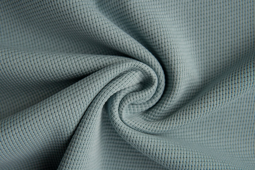 Waffeljersey | rauchblau | 0.5m