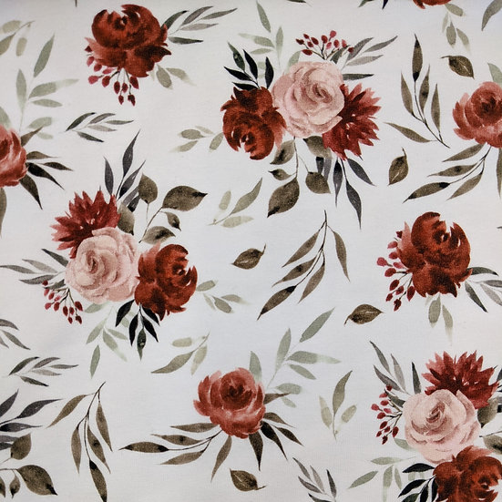 Autumn roses / French terry / 0.5m