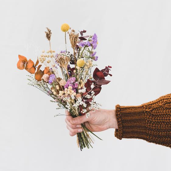 Trockenblumenbouquet