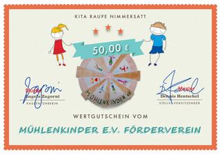 8x 50€ Wertgutschein für die KiTa-Gruppen
