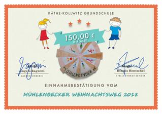 16x 150€: Der Förderverein hat die Klassenkassen gefüllt!*