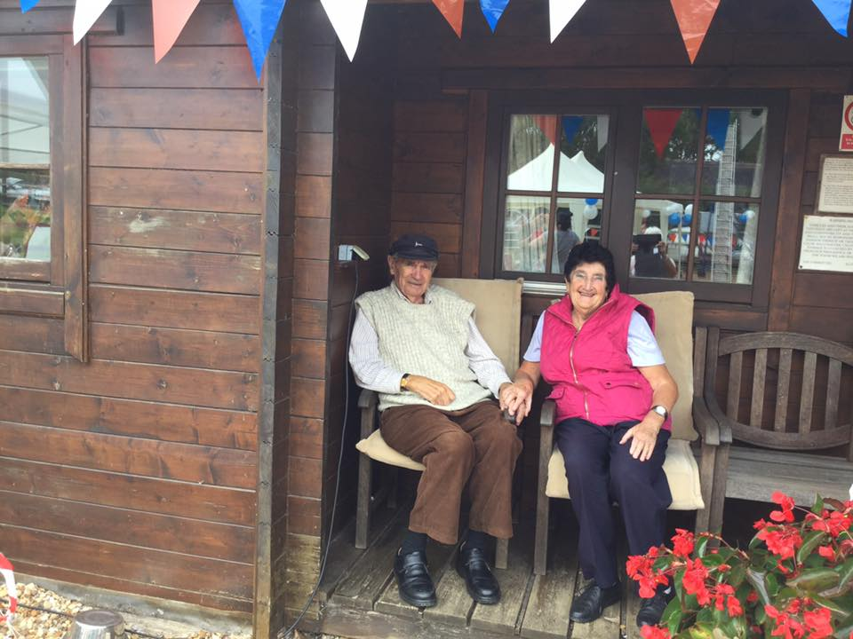 Doreen and Brian at the Open Day 2015