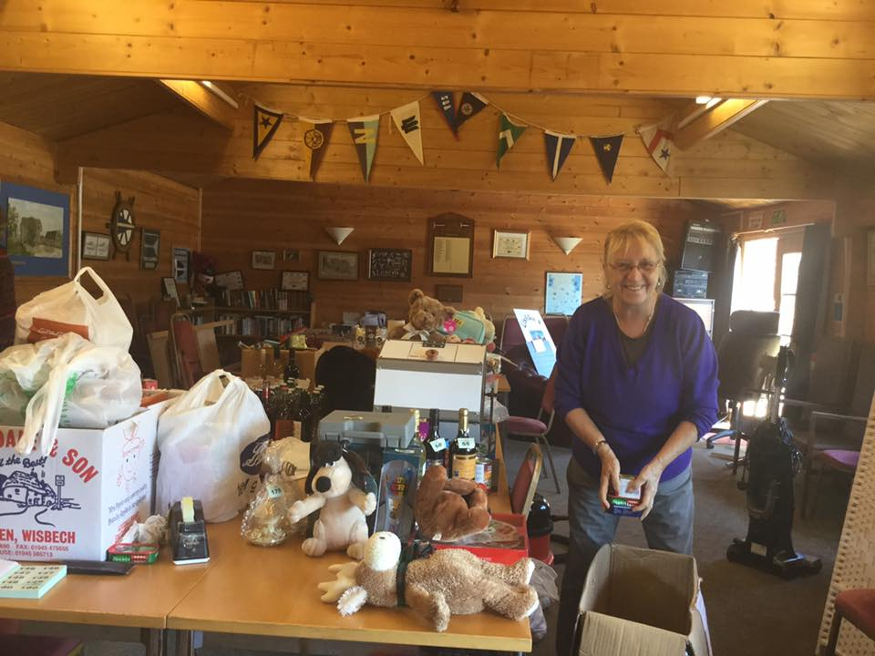 Getting Ready for the Tombola Stall 2015