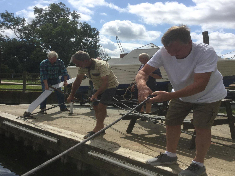 Weed Cutting at Elton Boat Club