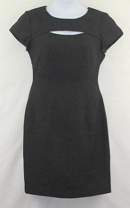 49. Cute Black Dress w/ floral pattern