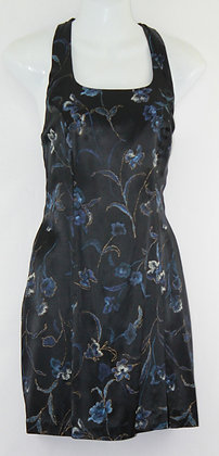 70. Black w/ Blue Floral Pattern Mini