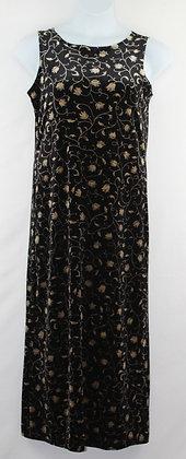80. Black Velvet Dress