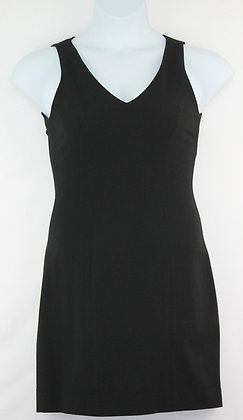 71. Black Sleeveless V Neck Dress