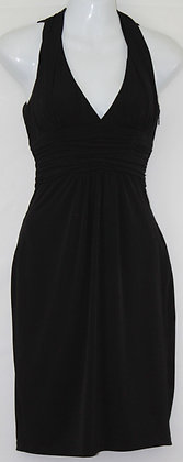 35. Black Form Fitting Tie Around Neck  Dress