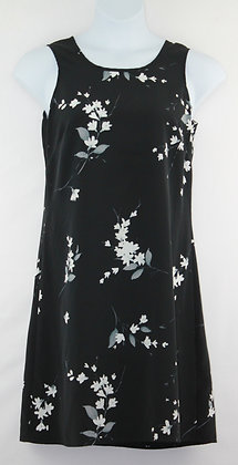 26. Black w/ Floral Print Summer Dress