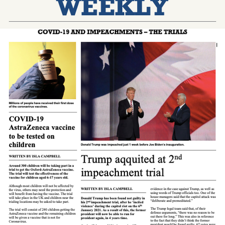 COVID-19 and impeachments - The trials (Edition 22)