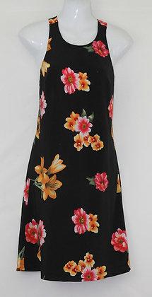 46. Cute Lil Black Floral Print Dress