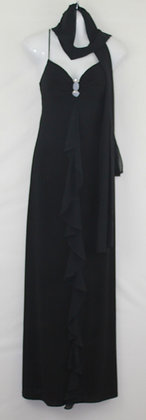 36.  Thin Straps Long Evening Gown w/ Scarf