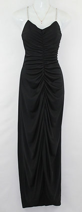 91. Gorgeous Pleated Black Evening Gown