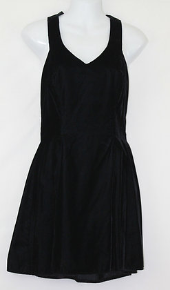 11.Lil Black Velvet Dress w/ Lace Embroidered Back