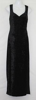 32.  Black Velvet Evening  Gown