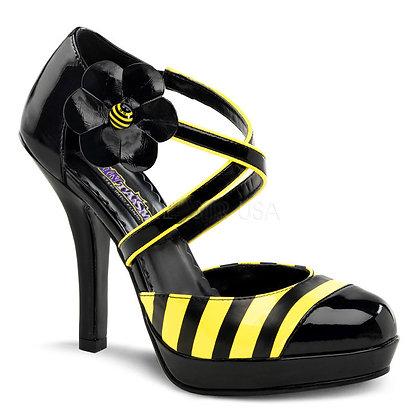 """Funtasma-41/2"""" Heel D' Orsay Bumble Bee Pump"""