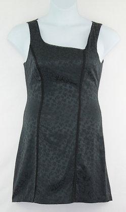 19. Black Sleeveless Floral Pattern Dress