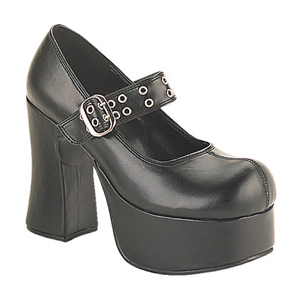 "Demonia 4 1/2"" Chunky Heel Maryjane Goth"