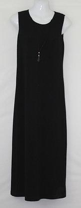 43. Sleek Long Sleeveless Dress w/ Necklace